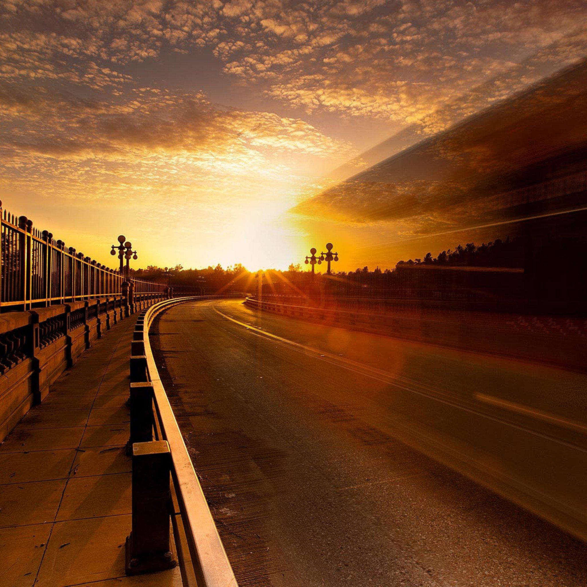 背景 壁纸 道路 风景 高速 高速公路 公路 天空 桌面 2048_2048