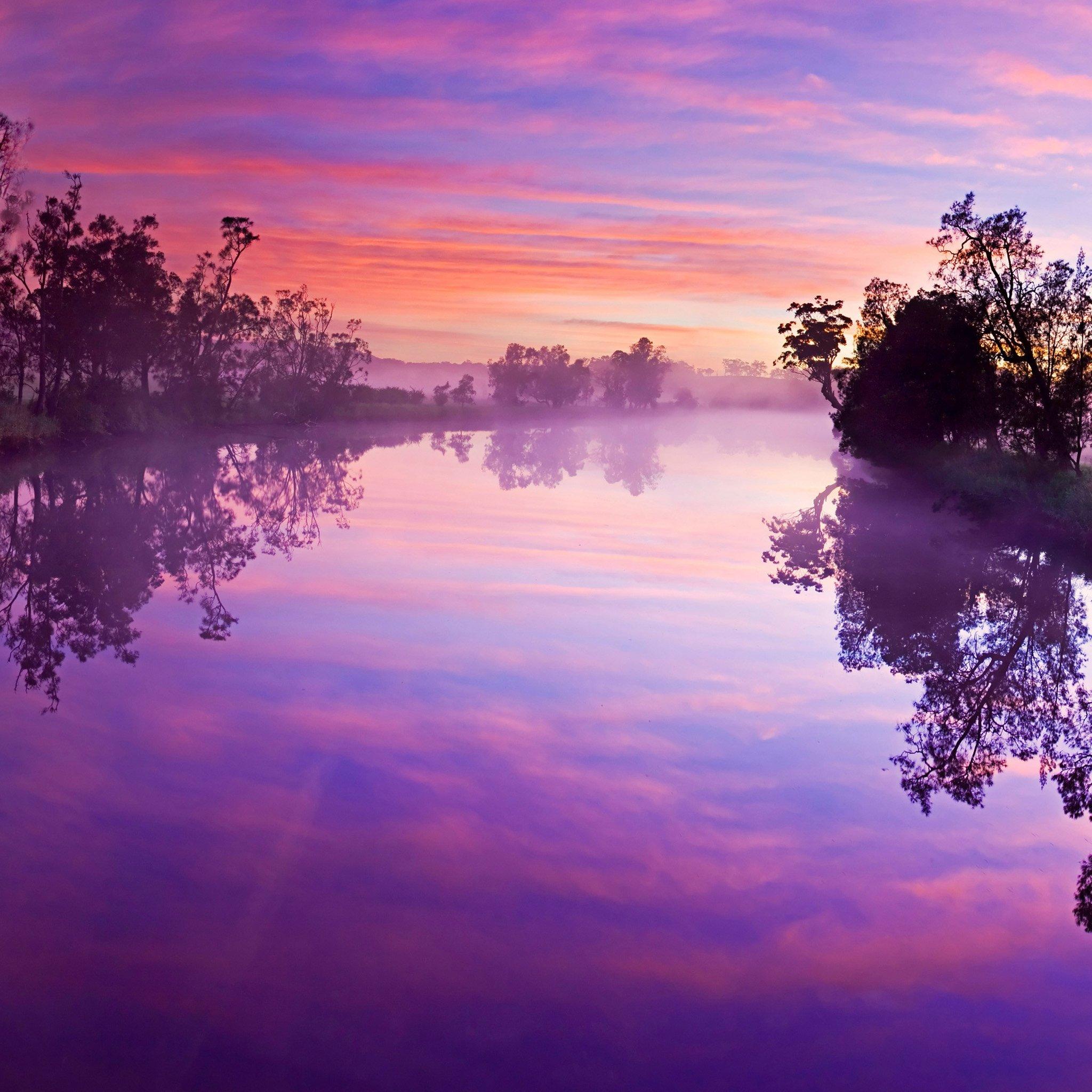 ipad风景紫色壁纸_ipad风景紫色壁纸下载