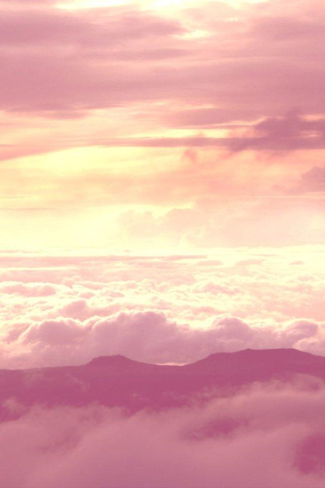 iphone4風景粉色壁紙_iphone4風景粉色壁紙下載