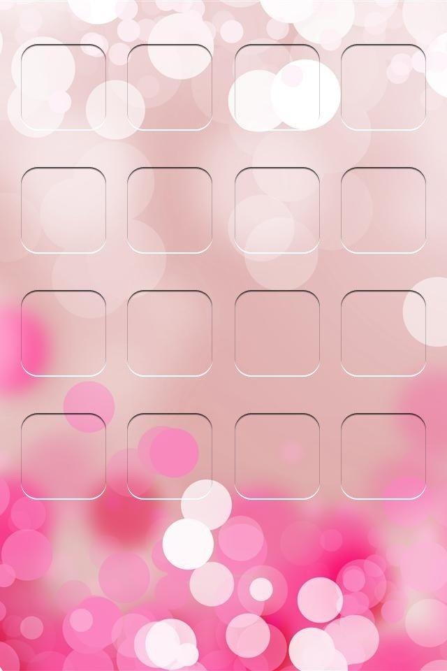 iphone4主屏控粉色壁纸