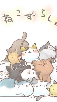 可爱,卡通,猫咪,动漫,白色,漫画
