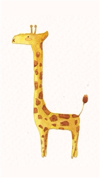 长颈鹿,可爱,萌,卡通,动漫